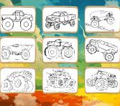 Hra - Monster Truck Coloring Book