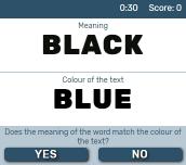 Hra - Colour Text Challenge